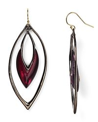 Alexis Bittar - Black Lucite Drop Earrings - Lyst