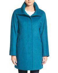Ellen Tracy | Blue Convertible Collar Kimono Sleeve Coat | Lyst