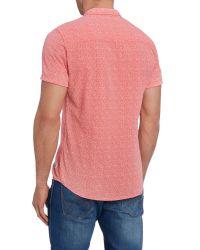 Blend | Pink Plain Slim Fit Short Sleeve Button Down Shirt for Men | Lyst