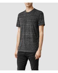 AllSaints - Black Infinate Crew T-shirt for Men - Lyst
