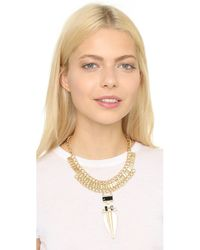 Adia Kibur | Abby Necklace - Gold/black | Lyst