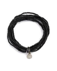Chan Luu   Black Solid Seed Bead Stretch Bracelet   Lyst