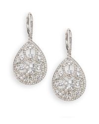 Adriana Orsini | Metallic Openwork Teardrop Earrings | Lyst