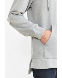 Timberland - Gray Ribbed Terry Sweatshirt for Men - Lyst