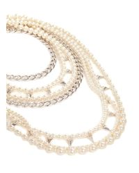 Joomi Lim - White 'vicious Love' Faux Pearl Necklace - Lyst