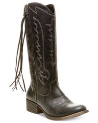 Madden Girl | Black Durant Cowboy Boots | Lyst