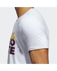 Adidas White Sun Devils Here To Create Tee for men