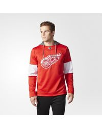 Adidas - Red Wings Jersey Replica Pullover Hoodie for Men - Lyst