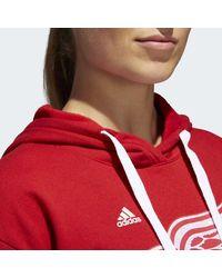 Adidas - Red Wings Logo Shine Hoodie - Lyst