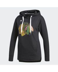 Adidas - Blackhawks Logo Shine Hoodie - Lyst