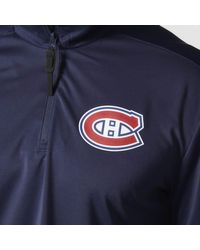 Adidas - Blue Canadiens Authentic Pro Jacket for Men - Lyst
