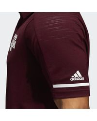 Adidas Red Texas A&m Coach Polo for men