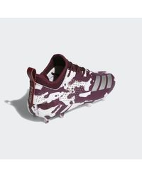 Adidas Red Adizero Tagged Cleats for men