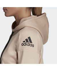 Adidas - Pink Id Stadium Hoodie - Lyst