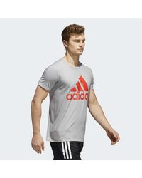 Adidas Gray Badge Of Sport Classic Tee for men