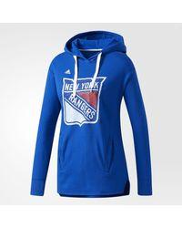 Adidas - Blue Rangers Logo Shine Hoodie - Lyst