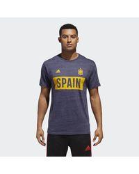 Adidas Blue Spain Bar None Tee for men