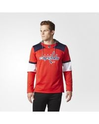 Adidas - Red Capitals Jersey Replica Pullover Hoodie for Men - Lyst