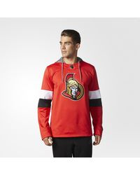 Adidas - Red Senators Jersey Replica Pullover Hoodie for Men - Lyst
