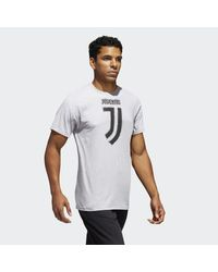 Adidas - Gray Juventus Brushed Stripes Tee for Men - Lyst