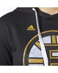 Adidas - Black Bruins Logo Shine Hoodie - Lyst