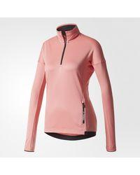 Adidas - Pink Terrex Tivid Fleece Jacket - Lyst