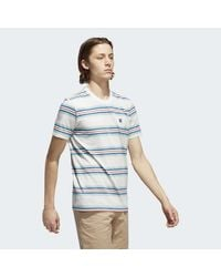 Adidas - Gray Yarn-dyed Tee for Men - Lyst