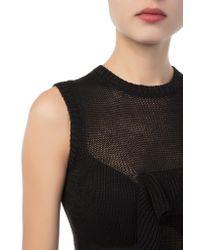 Each x Other - Black Mesh Knitwear Dress - Lyst