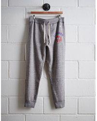 Tailgate Gray Men's Clemson Slim Fleece Sweatpant for men