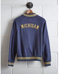 Tailgate Blue Women's Michigan Bomber Jacket