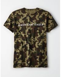 American Eagle - Green Ae Camo Graphic Tee for Men - Lyst