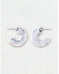 American Eagle - Metallic Chunky Silver Hoops - Lyst