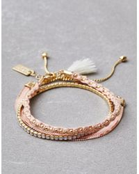 American Eagle - Pink Blush Arm Party Bracelets - Lyst