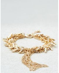 American Eagle | Metallic Chains Gold Bracelet | Lyst