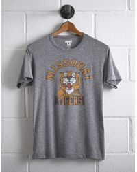Tailgate Gray Men's Missouri Tigers T-shirt for men