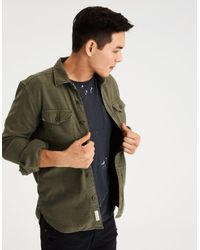 dc1ecf9e3d4 Lyst - American Eagle Ae Military Jacket in Green for Men
