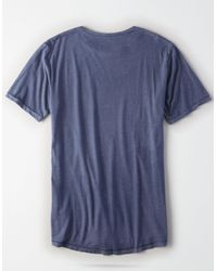 American Eagle - Blue Ae Longline Tee for Men - Lyst