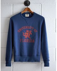 Tailgate Blue Men's Florida Crew Sweatshirt for men