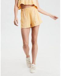 American Eagle - Yellow Ae Mirrored Soft Short - Lyst