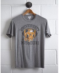 Tailgate Gray Men's Missouri Tigers T-shirt for men