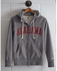 Tailgate Gray Men's Alabama Zip Hoodie for men