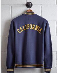 Tailgate Blue Men's California Bomber Jacket for men