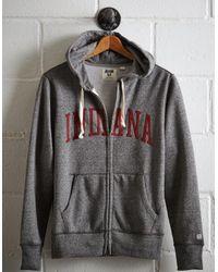 Tailgate Gray Men's Indiana Zip-up Hoodie for men