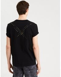 American Eagle - Black Ae Camo Graphic Tee for Men - Lyst