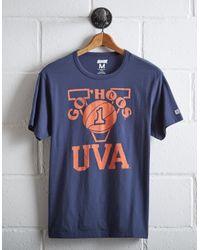 Tailgate Blue Men's Uva Basketball T-shirt for men