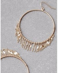 American Eagle - Metallic Delicate Gold Hoop Earrings - Lyst