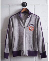 Tailgate Gray Men's Clemson Track Jacket for men