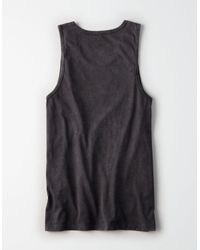 American Eagle - Black Ae Ombre Graphic Tank for Men - Lyst