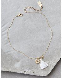 American Eagle - Metallic Ae Eiffel Tower Necklace - Lyst