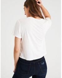 American Eagle - White Ae Girl Power T-shirt - Lyst